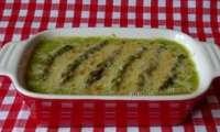 Velouté d'asperges vertes gratiné au parmesan