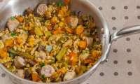 Saucisses au blé et aux légumes d'hiver