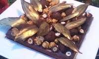 Moelleux au chocolat feuille d'automne