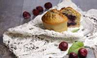 Muffins pistache menthe et griottes
