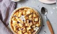 Tarte aux pommes crue à la vanille