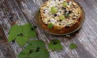Gâteau groseilles cassis et fromage blanc