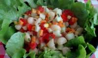 Salade de pâtes aux crudités et mimolette