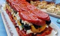 Terrine d'été aux légumes, feta, olives