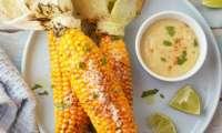 Maïs grillé au beurre d'amande et miso épicé