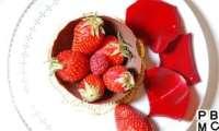 Coupe de Chocolat aux Fraises rouge passion