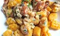 Gnocchis sans gluten au pâtisson et au potimarron