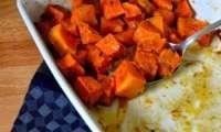 Dés de courge rôtie au garam masala