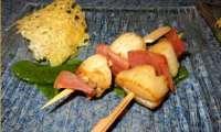 Brochette de Saint Jacques et jambon cru