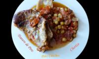 Travers de porc aux pois chiches et au chorizo
