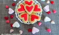 Shortbread coeur au citron