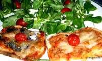 Bruschetta au thon et aux sardines