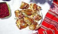 Bruschetta figues roties au miel, brie et thym