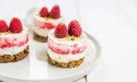 Cheesecakes spéculoos framboises et fraises