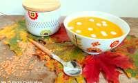 Soupe veloutée d'automne carottes, potiron, lentilles corail