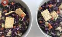 Salade croquante au chou rouge