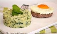 Purée au cresson et steak haché