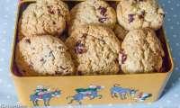 Cookies aux cranberries et noix de coco