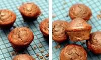 Muffins au chocolat, sans matière grasse ajoutée