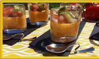 Panna cotta de tomate et sa salade