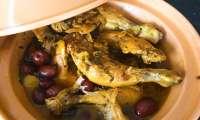 Tajine de poulet aux citrons confits