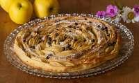 Tarte briochée aux pommes en spirale