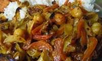 Chou et carotte braisés vegan à la coco