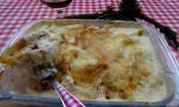 Conchiglionis aux 3 viandes gratinés à la crème au parmesan