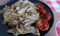 Poêlée d'endives au fromage frais et origan