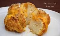 Chou-fleur entier rôti au paprika et curry, parmesan et cheddar