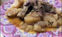 Cuisses de poulet et ses pommes de terre à la sauce tandoori