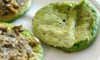 Blinis aux épinards et farine de lentilles vertes