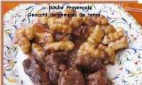 Daube Provençale et gnocchi de Pommes de Terre