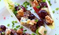 Le raisin muscat confit sur endive