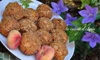 muffins aux pêches croquants aux amandes