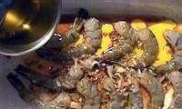 Brochettes de gambas au miel