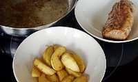 Filet mignon pommes cidre