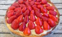 Tarte aux fraises crème à la pistache