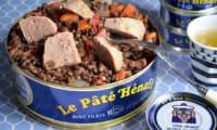 Salade de lentilles au pâté Hénaff