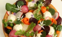 Tarte aux légumes et à la mousse d'Ossau-Iraty