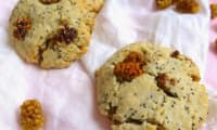 Cookies vegan aux mulberries, pavot, coco et fève tonka