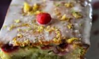 Marbré Citron-Matcha et Framboises