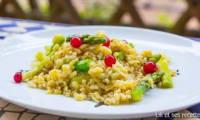 Poêlée de blé asperges et groseilles