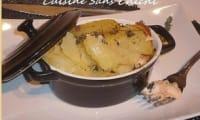 Petites cocottes de saumon au thym et au citron.