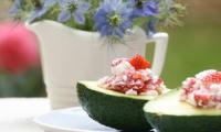 Salade sucrée salée aux fraises