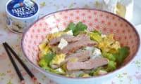 Salade de boeuf thaïe au Bresse Bleu