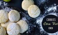 Cookies coco et citron vert