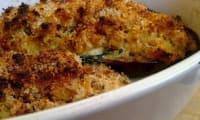 Aubergines farcies au poulet et fines herbes