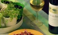 Gratin pommes de terre, concombre et Pancetta