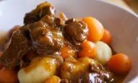 ragoût de veau aux légumes mijoté